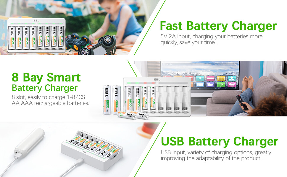 EBL AA AAA Battery Charger