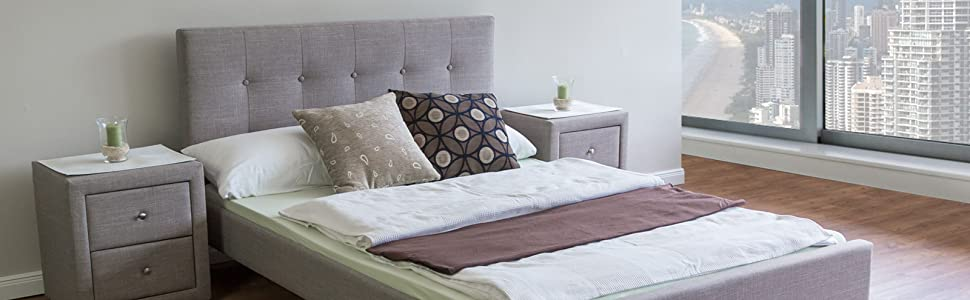 Homestyle4u 1730 Polsterbett 140 X 200 Cm Bett Mit Lattenrost Rückenlehne Grau