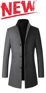 men's wool business trench coat