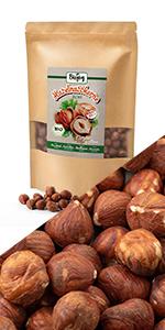 hazelnoot noten rauw niet gebakken ongezouten zoutvrij biologisch vers zaden pitten met geen ggo