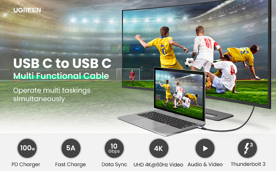 usb c to usb c cable usb-c 3.1 gen 2 10gbps 4k video 100w power delivery