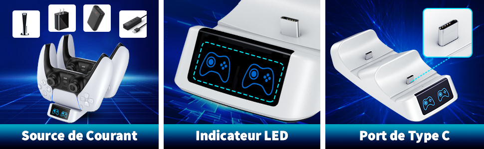 chargeur ps5