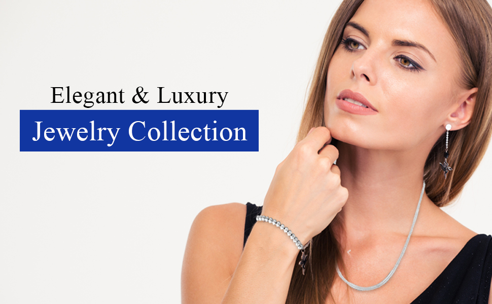 Elegant & Luxury Silver Jewelry Collection