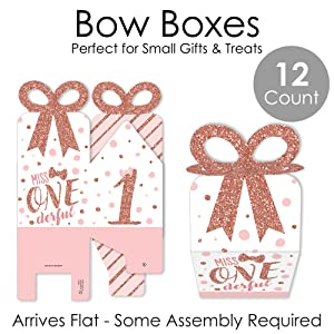 rose gold birthday party favor gift boxes
