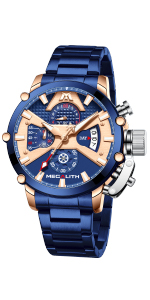 Reloj Cronografo Hombre Azul