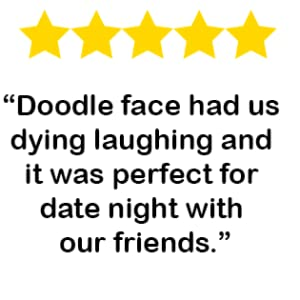 doodle face, laughing, game night, games, family games, board games, friend games,