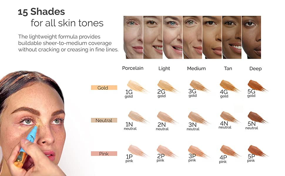 shades all skin types concealer make up gold pink neutral undertones makeup pen for skin tones easy