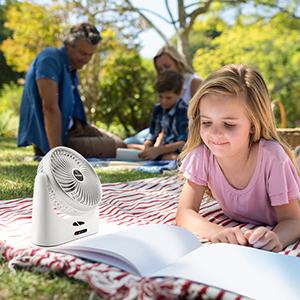 mini camping fan