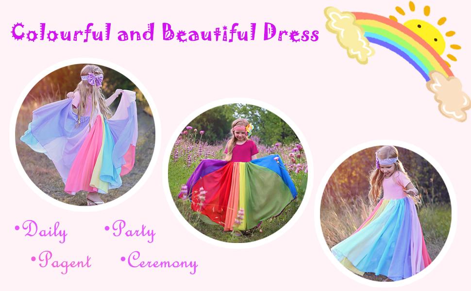 rainbow dress for girl