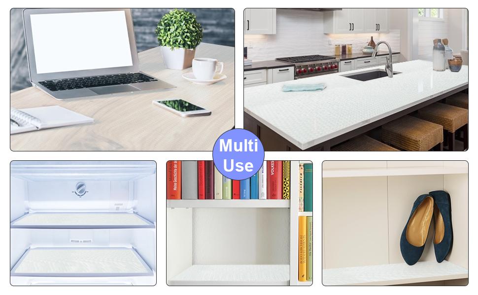 Anti-Slip Shelf Liner Drawer, Shoe Cabinet liners,Cutable DIY Washable Cabinet Shelf Mat