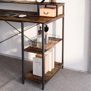 Open Storage shelves within easy reach