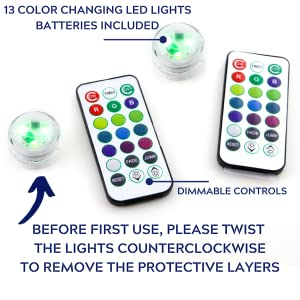 remote control led color changing lights