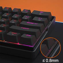 60% mechanical keyboard sturdy design perfect detail
