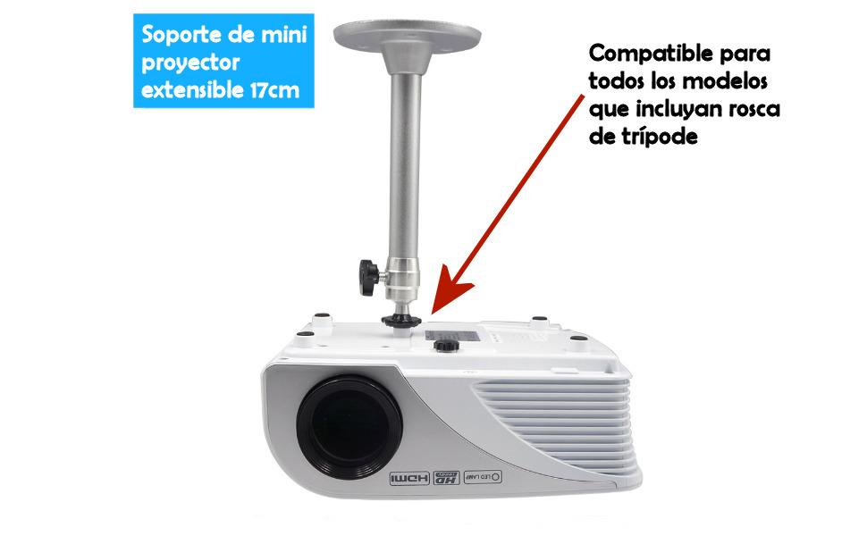 soporte universal para mini proyector con ajuste a pared o a techo