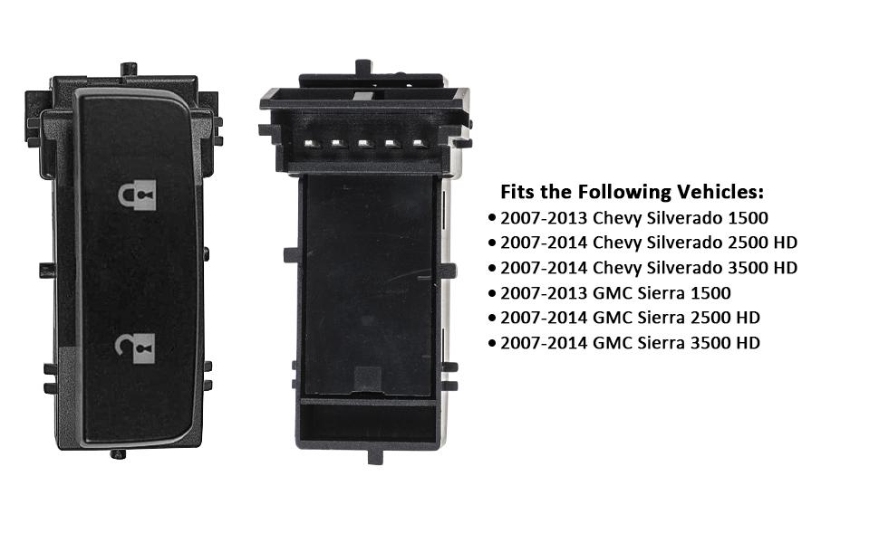 ip Dorman Front Left Door Window Switch for Chevy Silverado 2500 HD 2007-2014