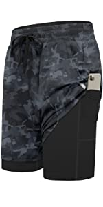 2 in 1 Workout Running Shorts