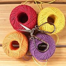 embroidery scissors yarn