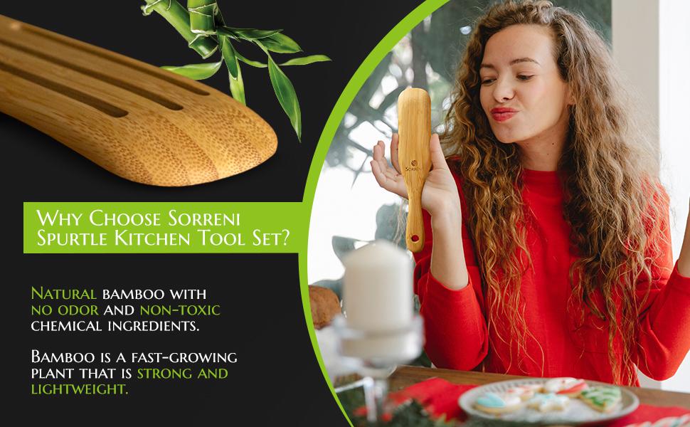 Wooden cooking spatulas