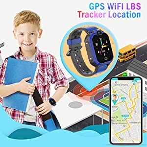 GPS Locator Kids smartwatch phone with GPS Tracker wifi wristband boys girls birthday gifts toy