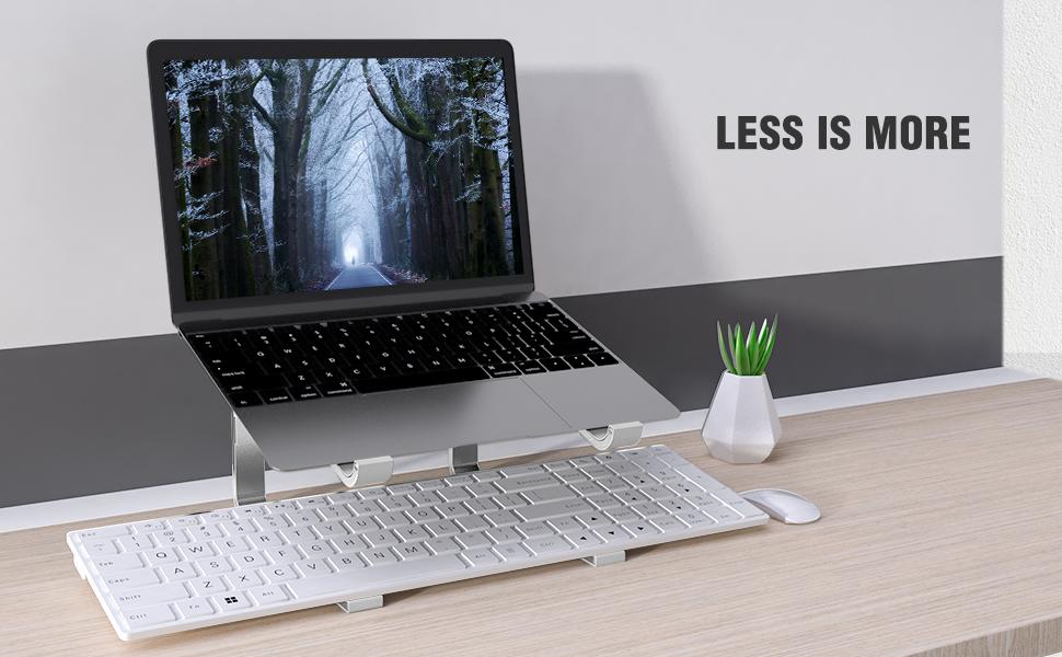 silver laptop riser