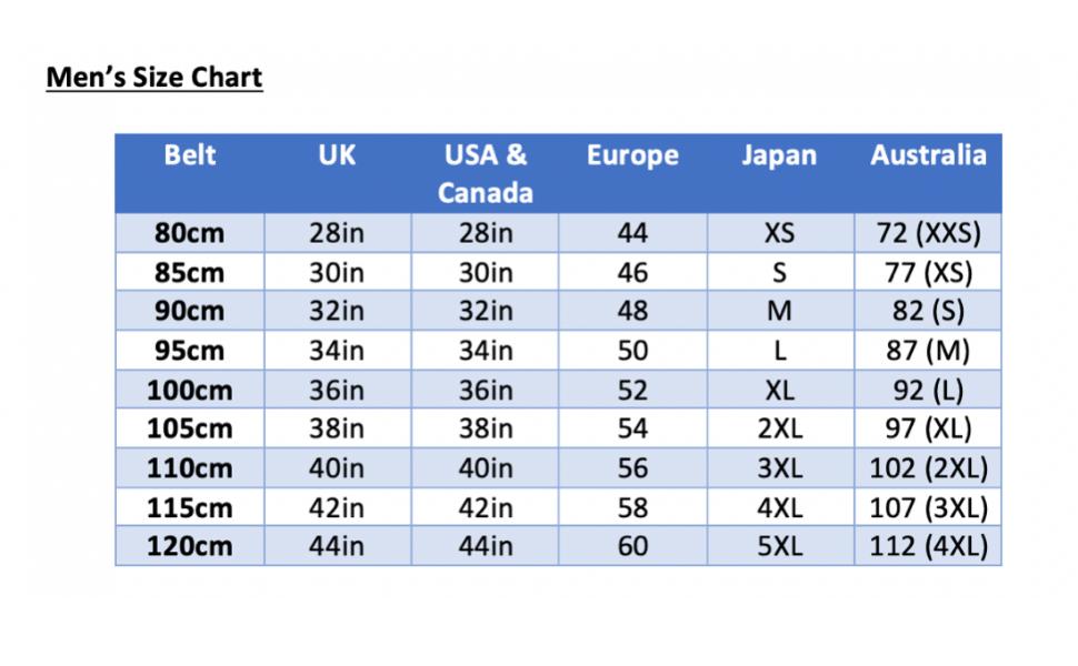 Carlos Diaz Mens polo belt size chart