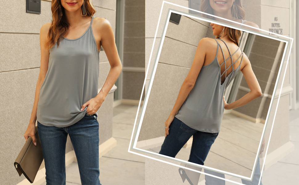 womens summer tank tops loose fit