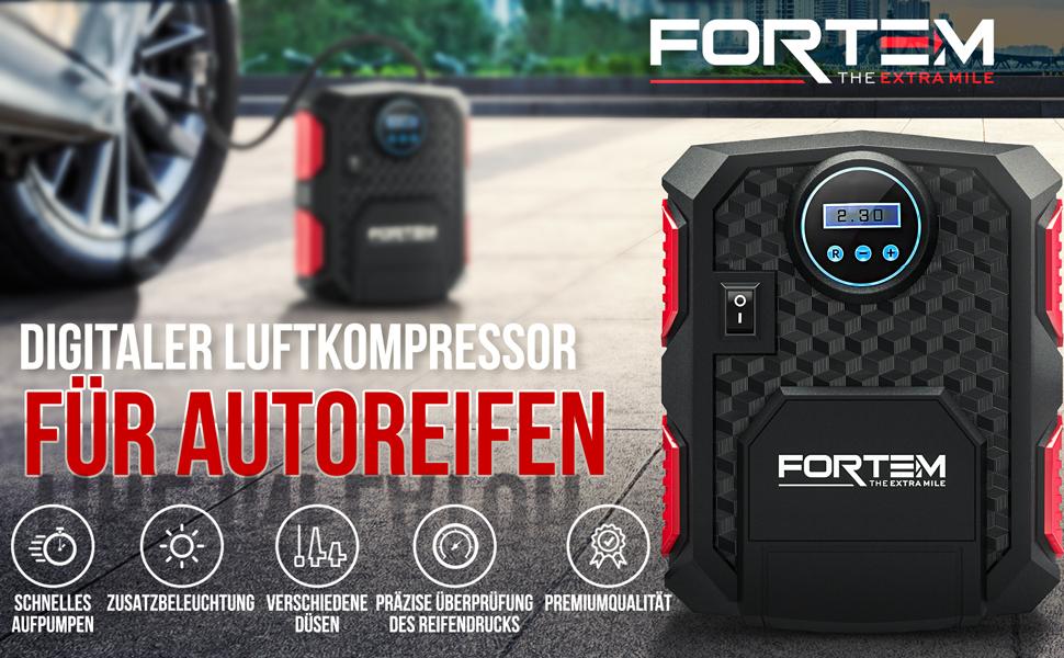Motorrad- HZXIAOYI Tragbarer Luftkompressor Mini-Reifenf/üller mit digitalem Reifendruckmesser 150 PSI f/ür Auto- Luftkompressor f/ür Autos mit LED-Licht