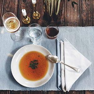 ribbed cottonrunner table-cloth design scandinavian swedish home-deco decoration dinner