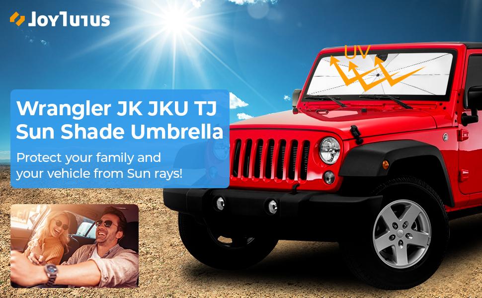 jeep wrangler sunshade umbrella