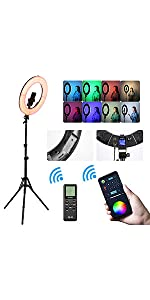 18 inch RGB Ring Light Kit With Stand
