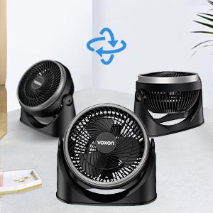 VOXON Ventilatore da Tavolo, Ventilatore a Parete Turbo con Due Spine, Desk Fan