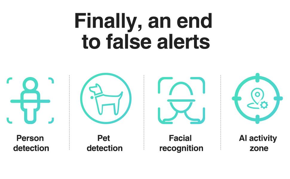 simcam 1s ai security camera with ai detection no false alert