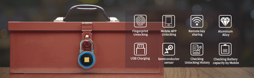 OMaggie fingerprint padlock