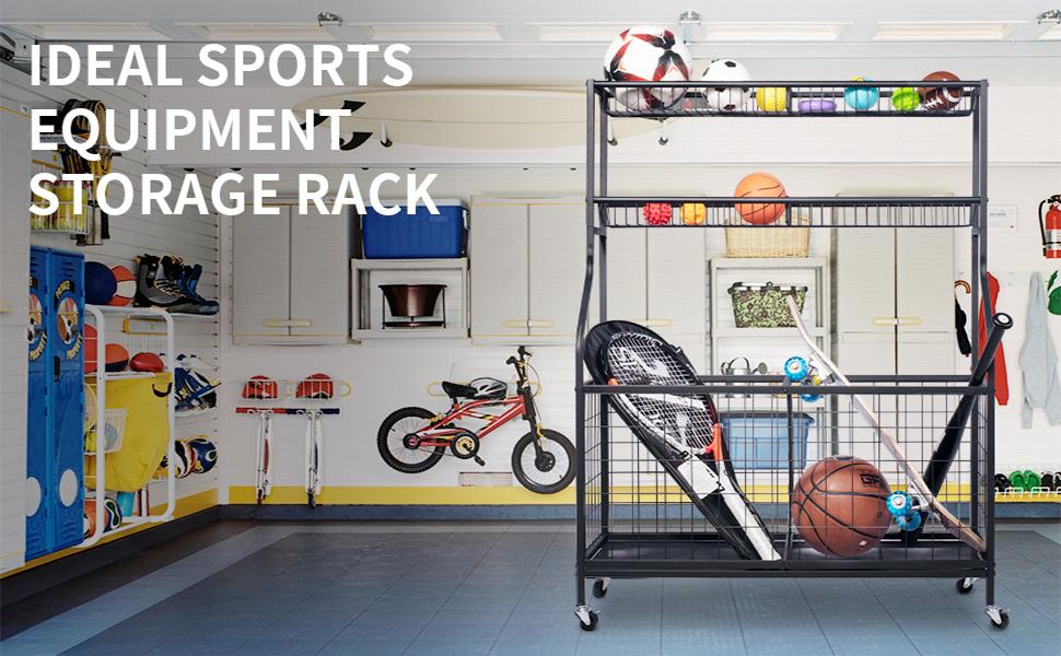 sports storage organizer for garage