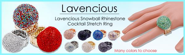 Rhinestone Cocktail Stretch Ring