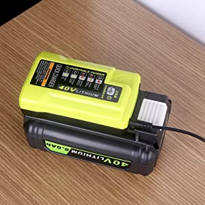Compatible with Ryobi 40V Battery Charger