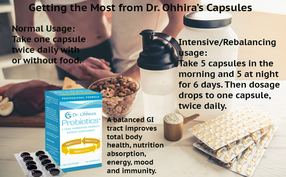 Eating healthily with Dr. Ohhira's Professional Probiotics