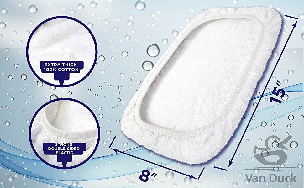 VanDuck 100% Cotton terry cloth 15x8 mop pads