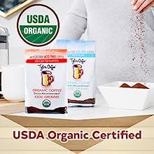 Tylers Acid-Free Coffee Decaf Whole Bean low acid coffee organic coffee