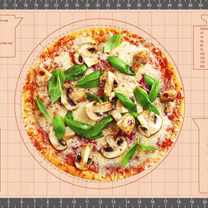 silicon baking mat for rolling out dough,pie pizza mat