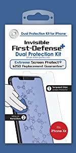 QMADIX invisible nano liquid glass screen protector with bonus tempered glass for iphone xr.