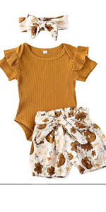 3pcs Baby Girls Outfits