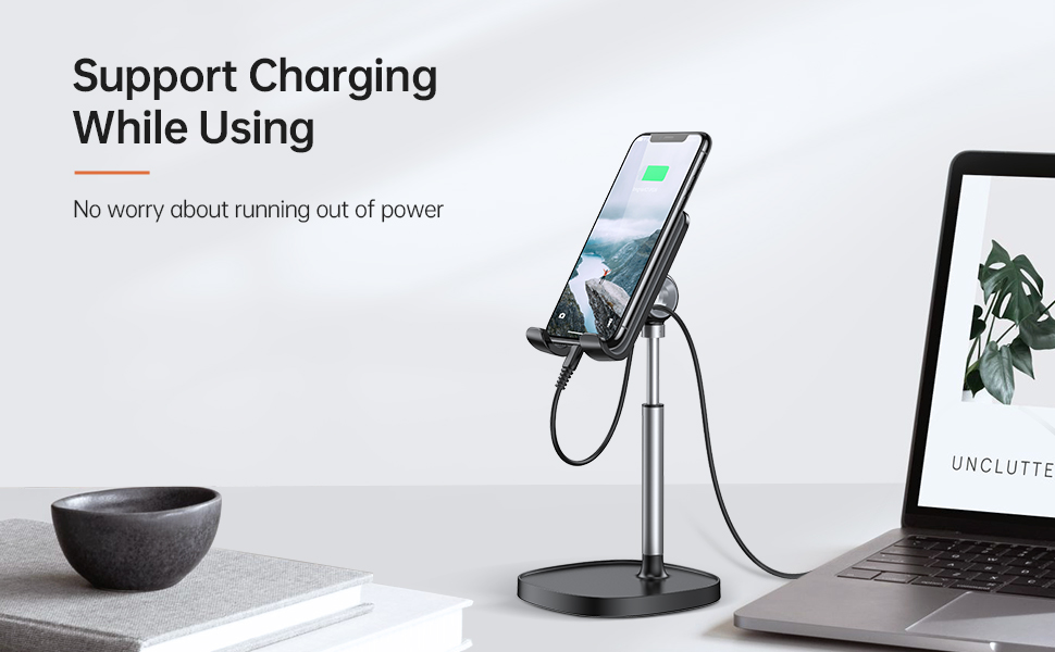 mini cell phone hook stand with charge hole