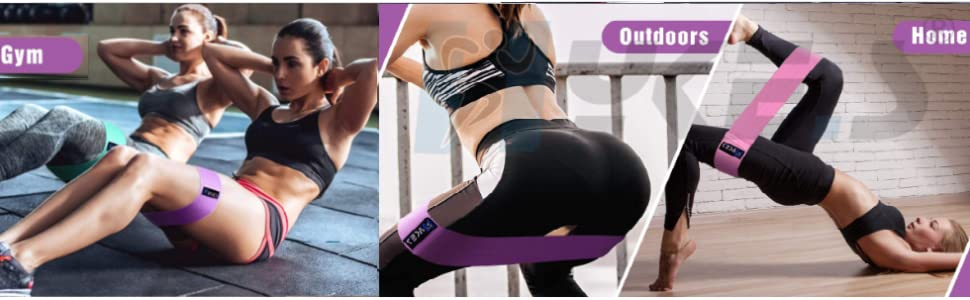 Resistance Booty Bands Hips Legs Latex Exercise Fitness Yoga Pilates Squats Glutes Home Gym Thighs