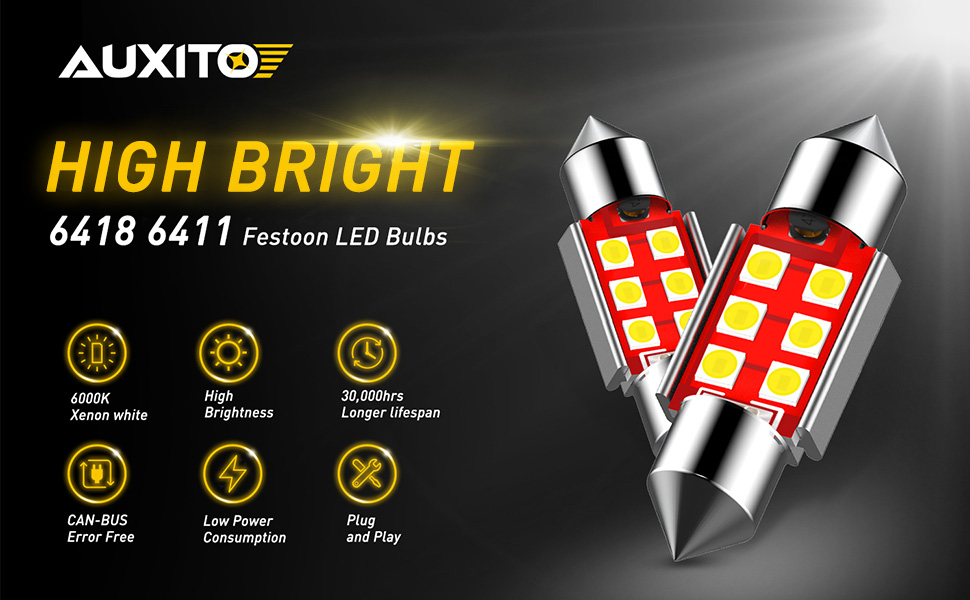 6411 6418 36mm festoon led bulbs