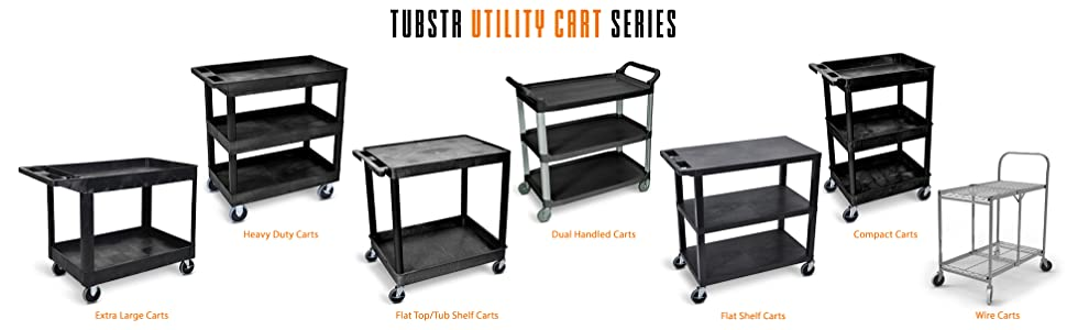 Tubster Utility Cart, Tubstr plastic utility cart mobile work station, rolling wire rolling cart