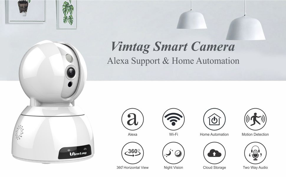 Vimtag CP2 Wireless Home Security IP Camera