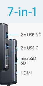 7-in-1 プレミアム USB-Cハブ