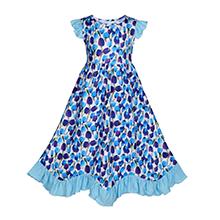 maxi blue tulip dress