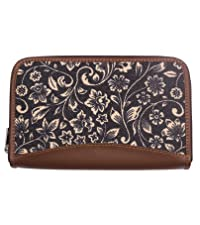 lattice lace chain wallet hand clutch purse pocket organiser